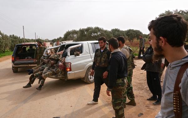 Iranian paramilitary soldiers killed fighting Free Army/Mujahedin rebels near Fou'a, Idlib Province.