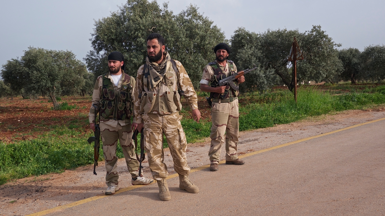 Cmdr. Mohanned Issa and his men from the Idlib Martyrs Brigade
