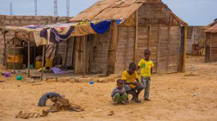 Shantytowns have sprung up on the outskirts of Nouakchott where many former slaves, and those who left the draught ridden countryside in search of opportunity build homes from scrap metal and other found items.